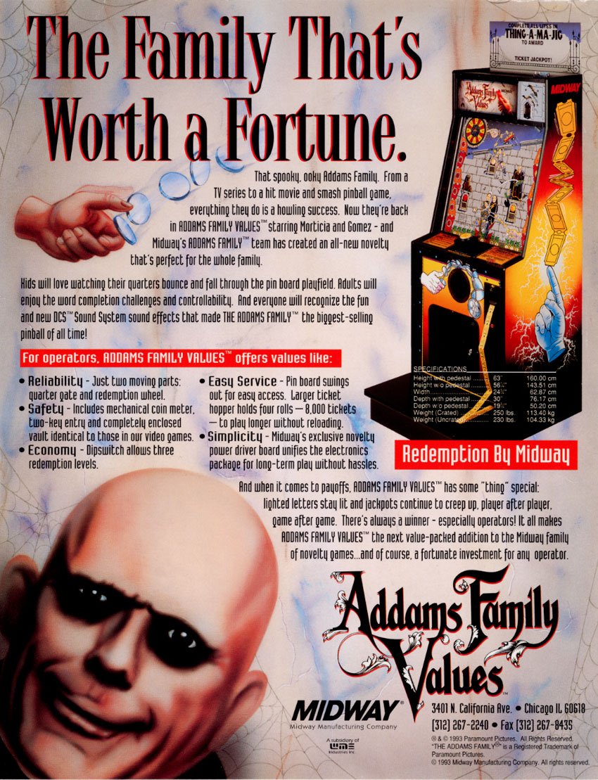 Addams Family Values (Bally-Midway, 1993) flyer.jpg