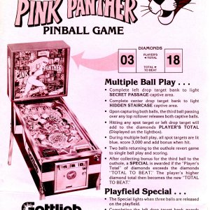 Pink Panther (Gottlieb, 1981) mono flyer-front